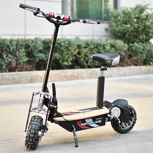elscooter med sadel